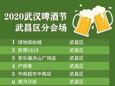 2020武汉市啤酒节明天起动,这一区在六个定位点推35场主题活动