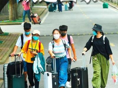 欢迎回家!不久,武汉市迈入第一批回校在校大学生