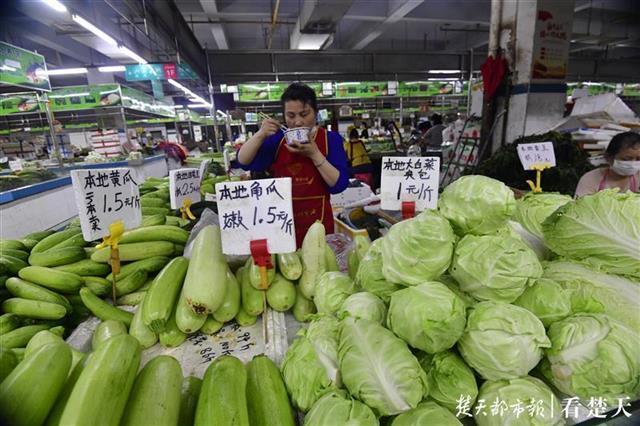 """种类丰富多彩供货充裕,武汉市""""一元菜""""愈来愈多 第2张"""