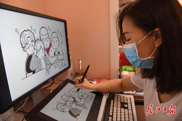 """350幅手绘画、80段视频心怀感恩""""为武汉市拼过命的人"""",画师出抗疫画集传递温暖 第3张"""