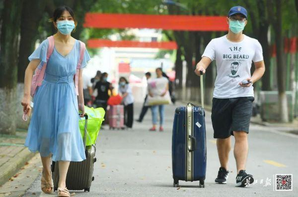 欢迎回家!不久,武汉市迈入第一批回校在校大学生 第3张