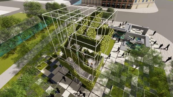 """武汉为家乡设计了""""魔方口袋公园"""",将组装理念引入景观设计。 第4张"""