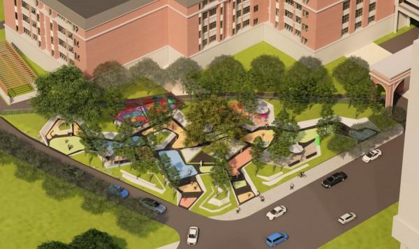"""武汉为家乡设计了""""魔方口袋公园"""",将组装理念引入景观设计。 第6张"""