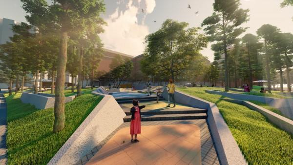 """武汉为家乡设计了""""魔方口袋公园"""",将组装理念引入景观设计。 第7张"""