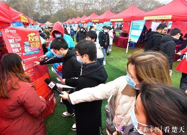 """求职在""""指尖""""和""""云里"""",湖北省高校毕业生就业服务月专场招聘会在韩举行。 第5张"""