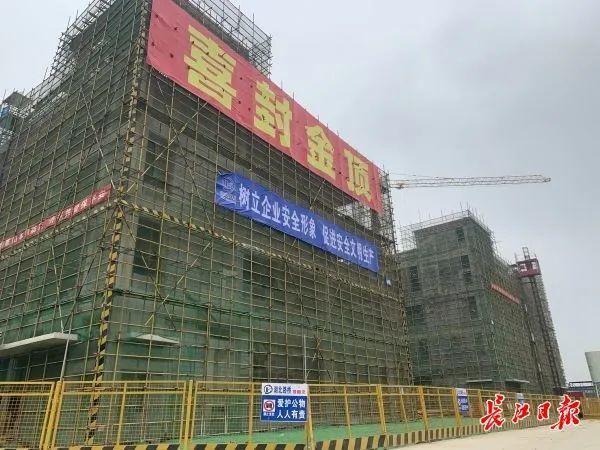 光谷南大健康产业园第一批所有单体建筑即将封顶。 第2张