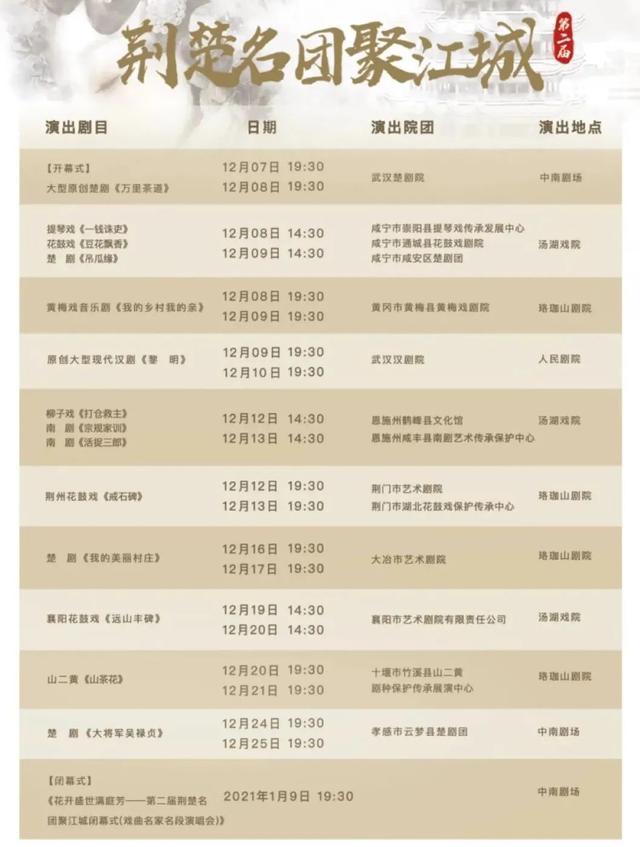 荆楚在江城重聚,14个戏班带着优秀的剧目赶来。 第3张