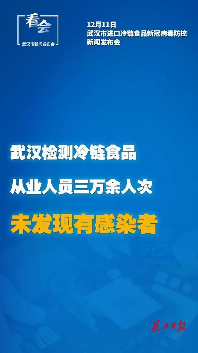 武汉发布:对3万多名冷链食品从业人员进行检测,未发现感染者。 第2张