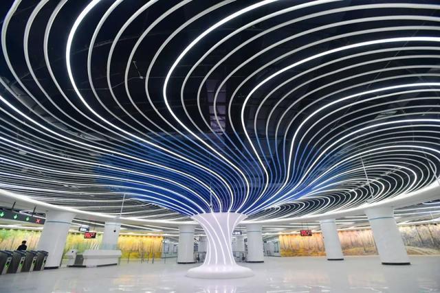 武汉十大最美地铁站第一站惊艳。 第2张