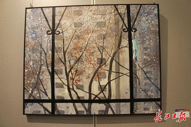 20世纪90年代后,画家们用3000张抗疫照片做了一幅画...湖北艺术界抗疫艺术作品展开幕。 第8张