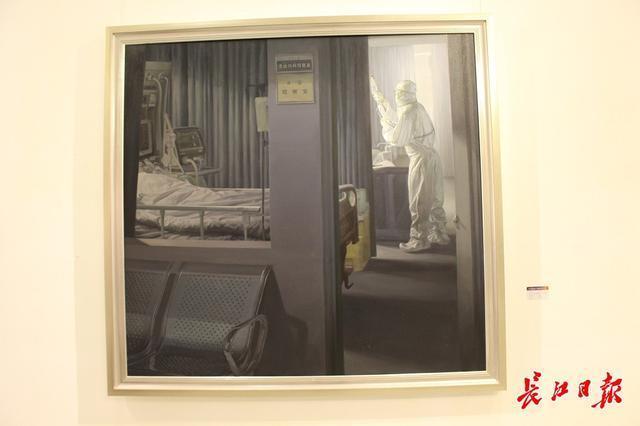 20世纪90年代后,画家们用3000张抗疫照片做了一幅画...湖北艺术界抗疫艺术作品展开幕。 第7张