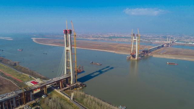 武汉造!这次是中国第一座交叉索斜拉桥。 第1张
