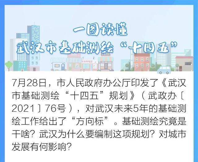 《武汉市基础测绘十四五计划》发表,今后五年武汉将这样做!|一图读。 第1张